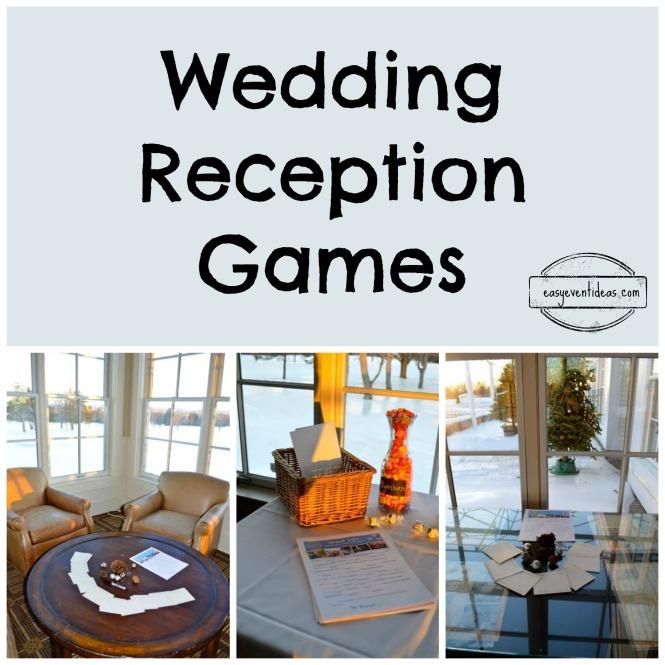 wedding reception games