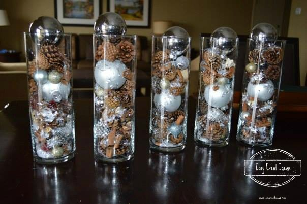 Easy winter wedding or event centerpiece ideas