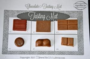 Chocolate tasting mat