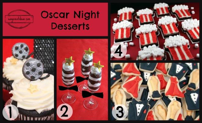 Oscar Night Desserts