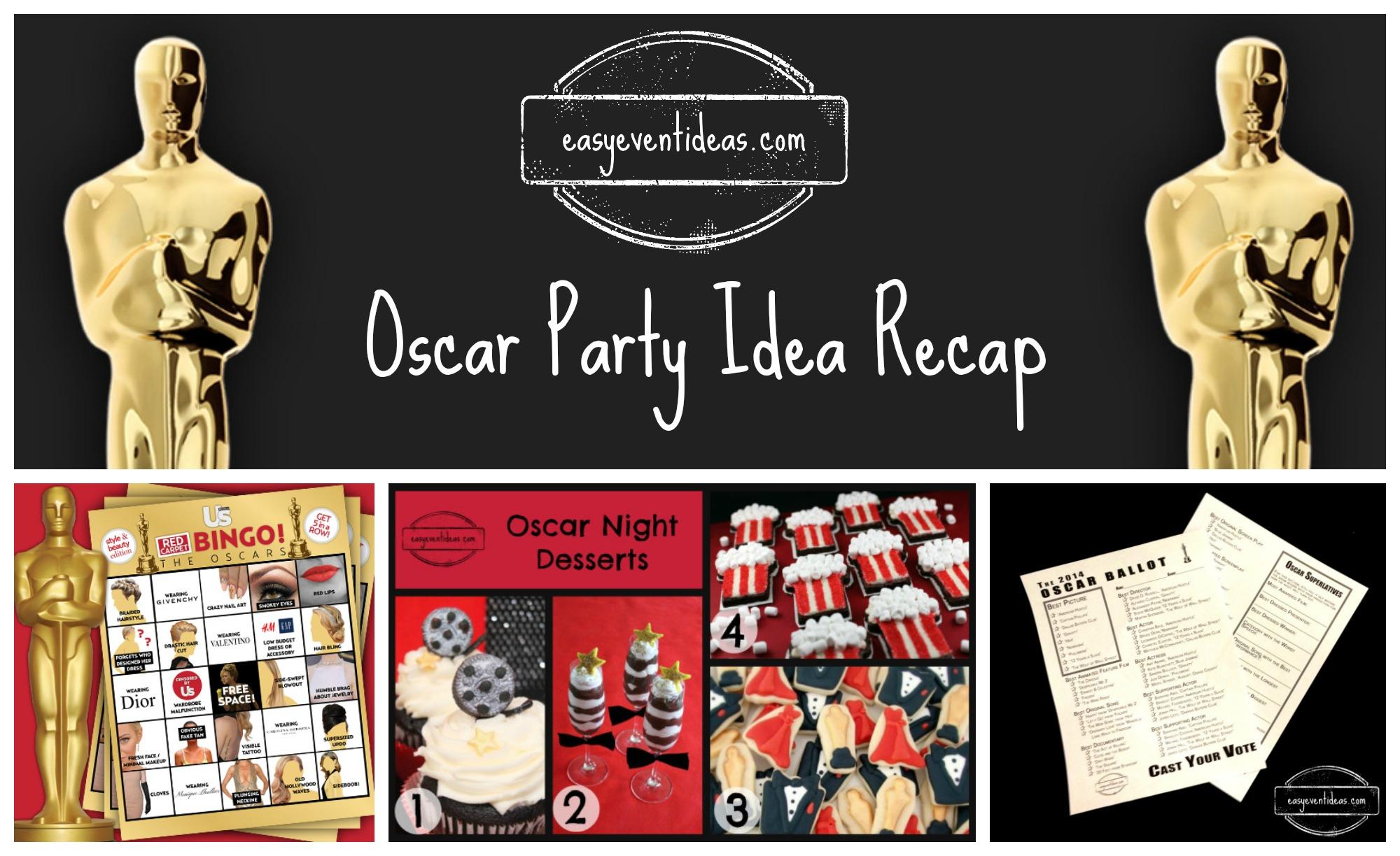 oscar party idea recap