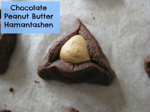 Chocolate Peanut butter Hamantashen