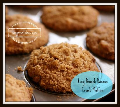 Easy Brunch Banana Crumb Muffins