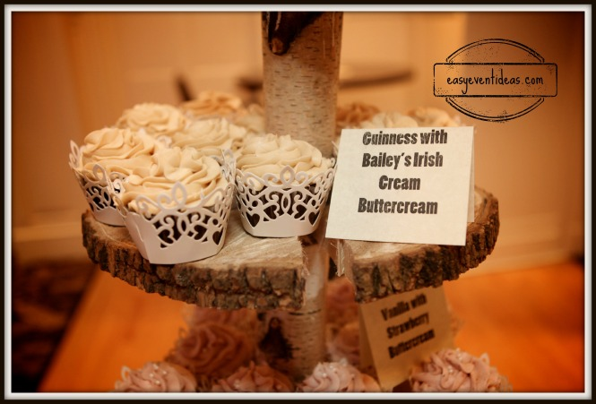 Guiness Cupcake with Bailey's Irish Cream Butter Cream Frosting