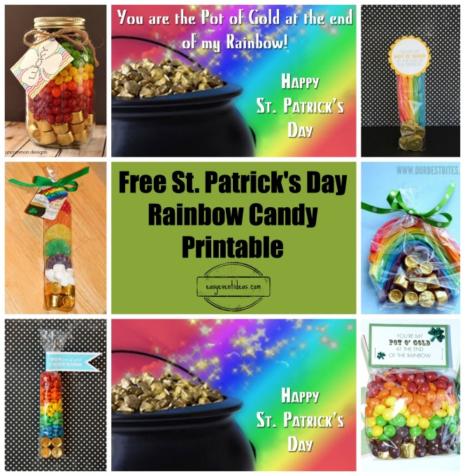 Rainbow Candy Printable Sign