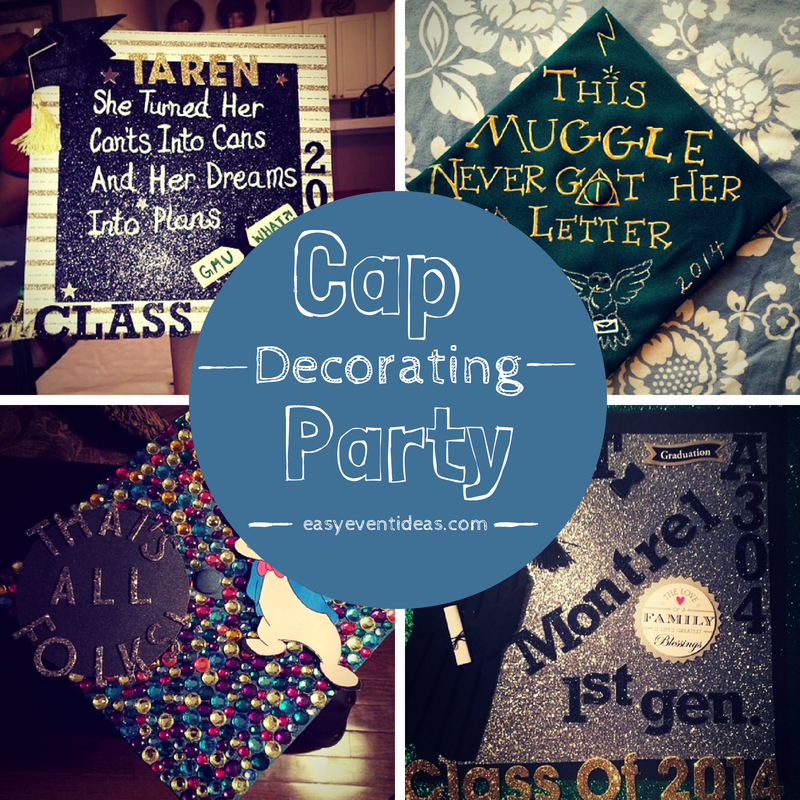 Decorating Your Graduation Cap Party Easy Event Ideas