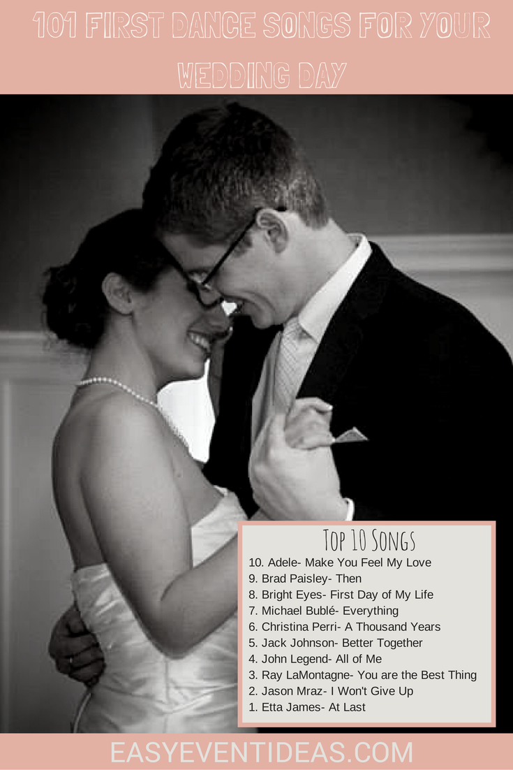 101 First Dance Songs For Your Wedding Day Easy Event Ideas