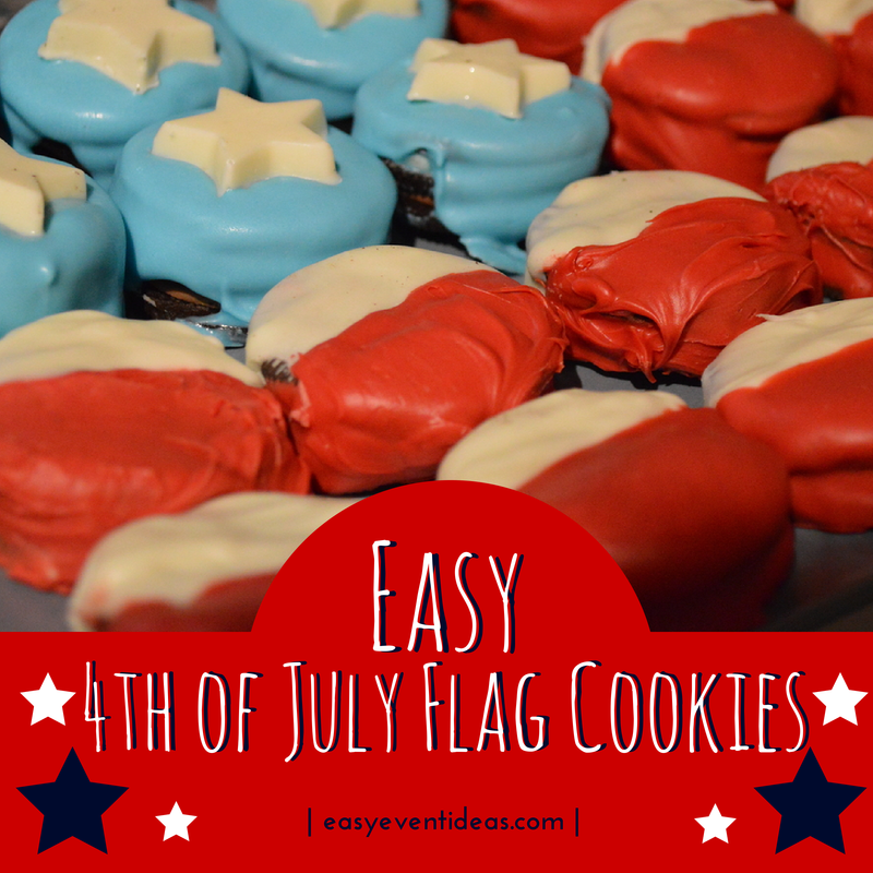 Easy 4th of July Flag Cookies (1/2)