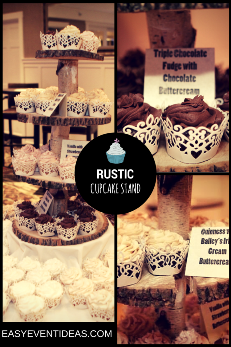EASY RUSTIC CUPCAKE STAND
