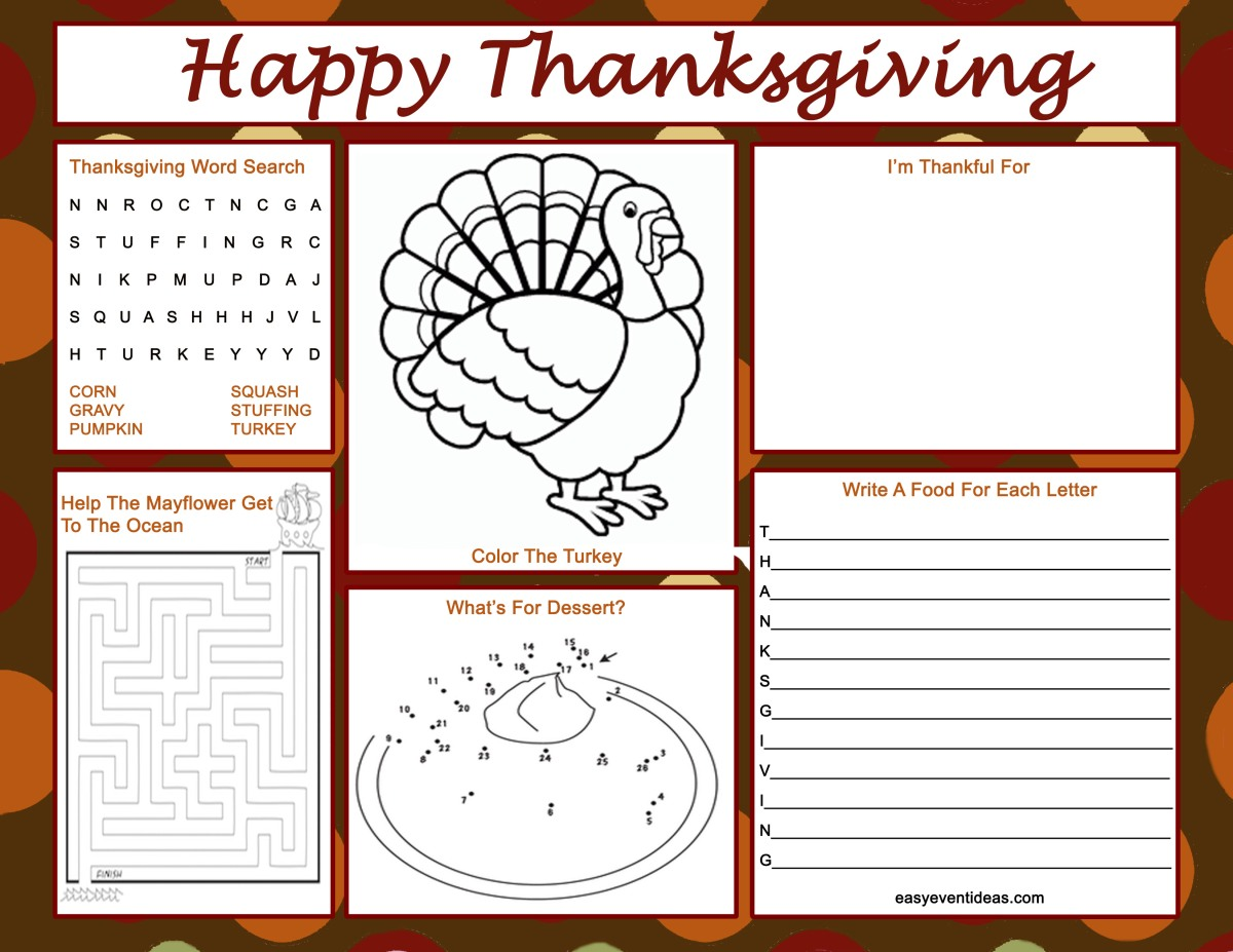 Thanksgiving Placemats Featured!