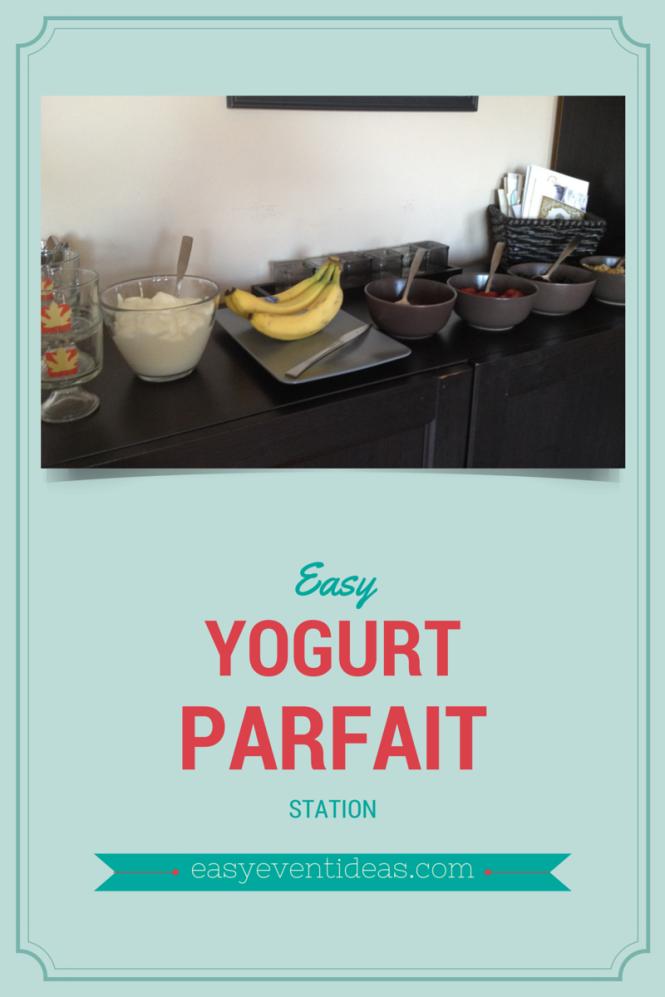 Yogurt Parfait Station