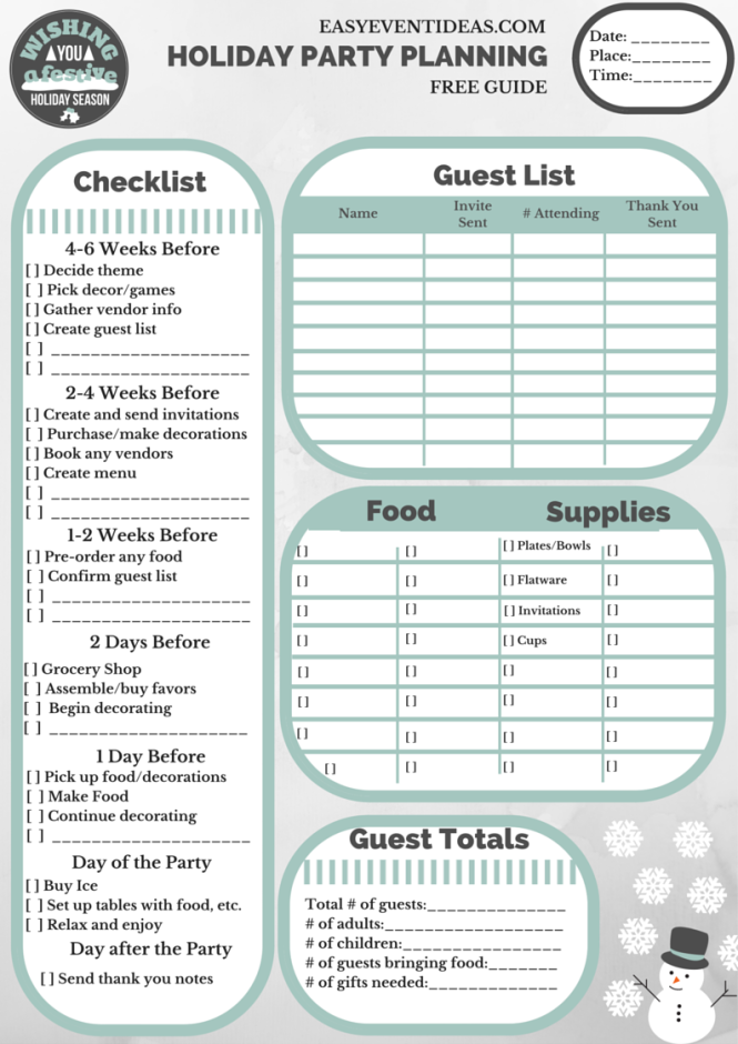 Holiday Party Planning Guide