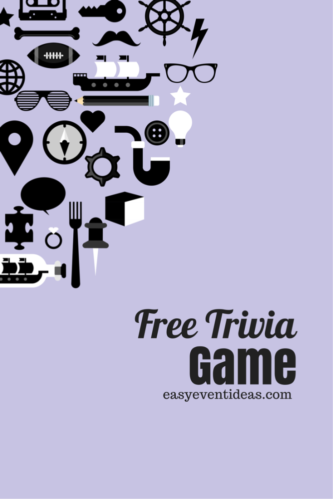 Free Trivia Game for your Trivia Night Event (1/2)