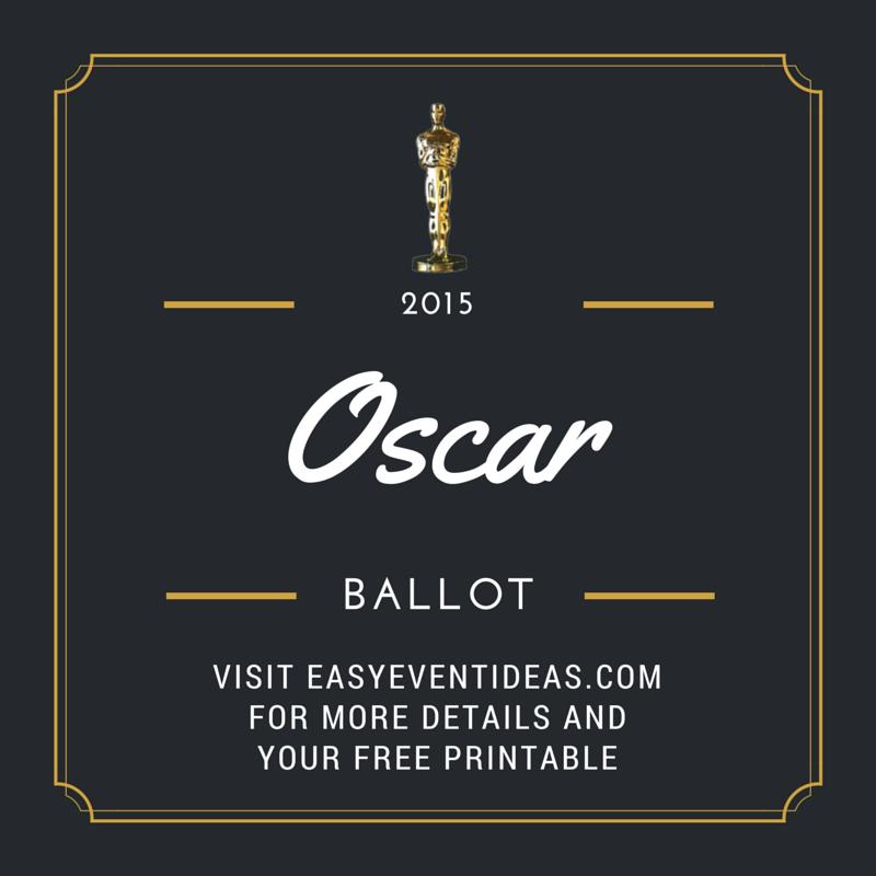 Oscar Ballot 2015 (1/2)