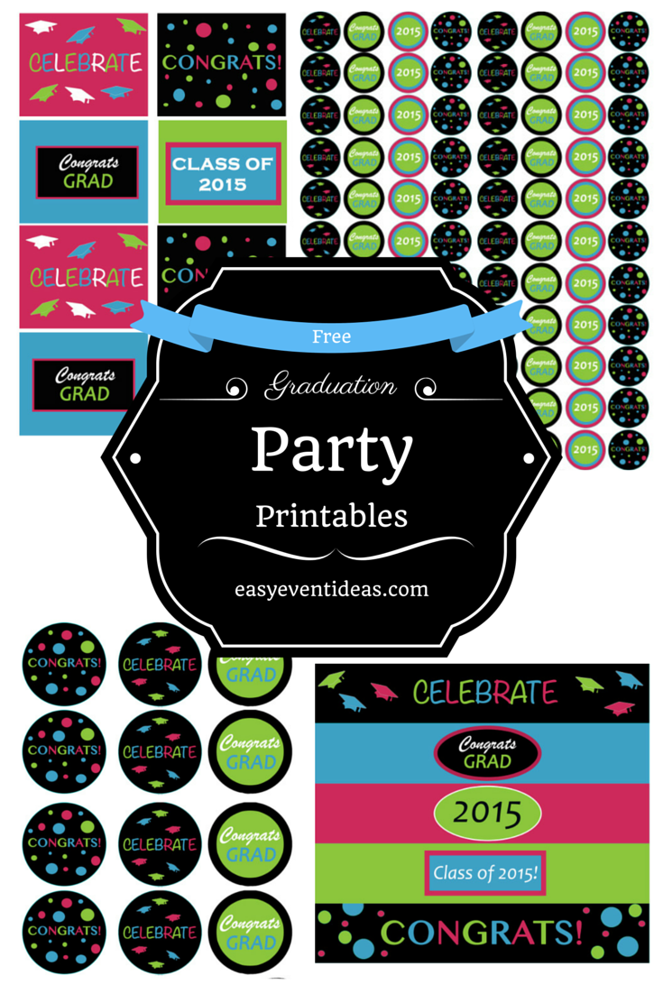 picture regarding Free Printable Graduation Party Games identified as commencement Uncomplicated Occasion Strategies
