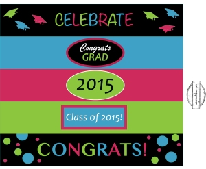 Graduation water bottle labels - 2015