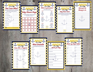Ahoy it's a Boy Game and Advice Printable Package