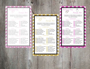 Bachelorette Party Scavenger Hunt Games