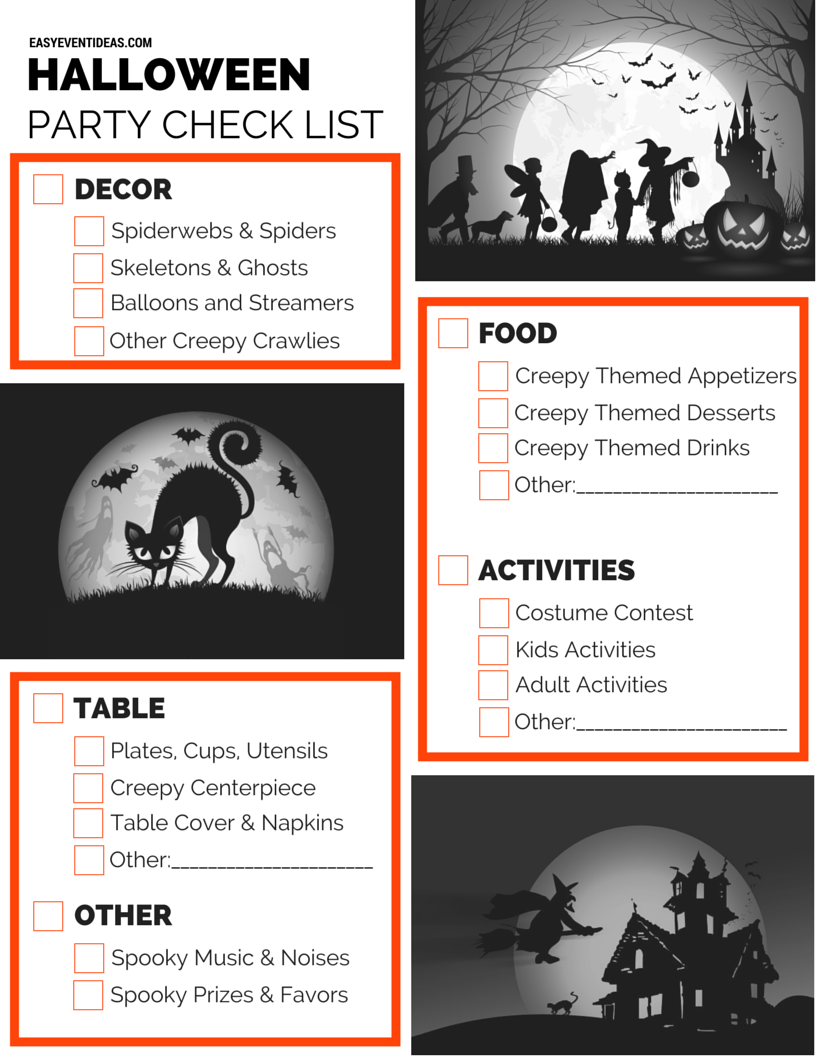Halloween Party Checklist - Easy Event Ideas
