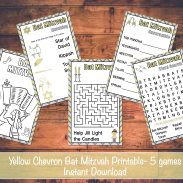 Yellow Chevron Bat Mitzvah