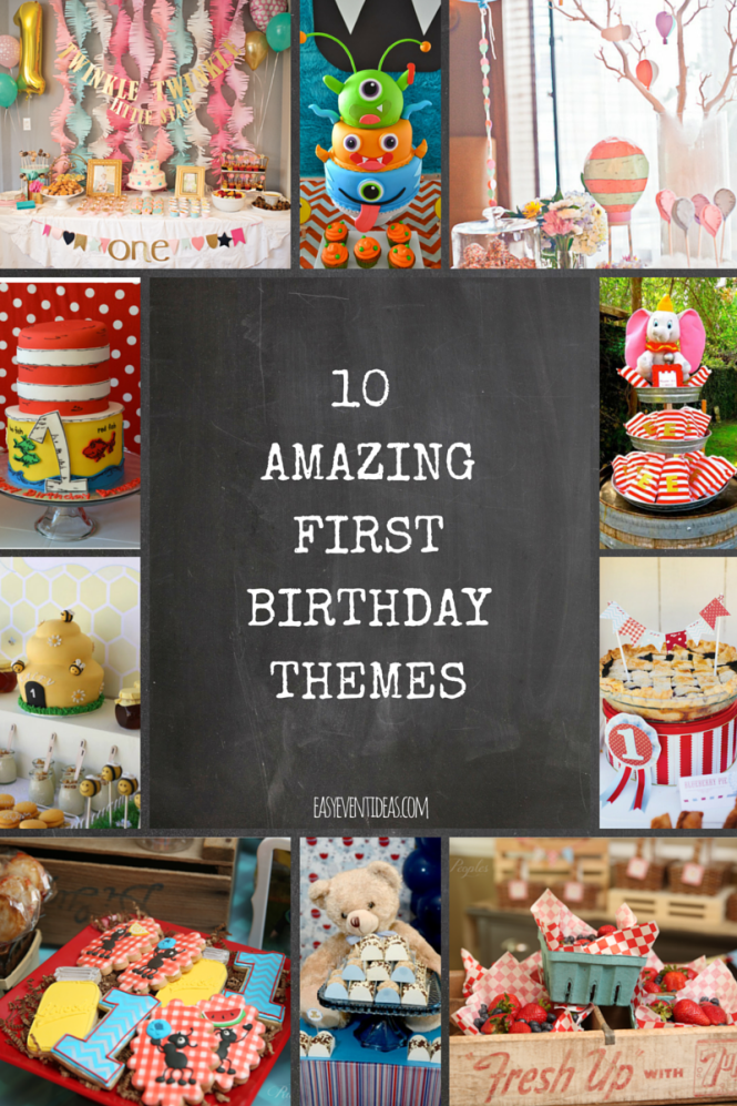 10 AmazingFirstBirthdayThemes