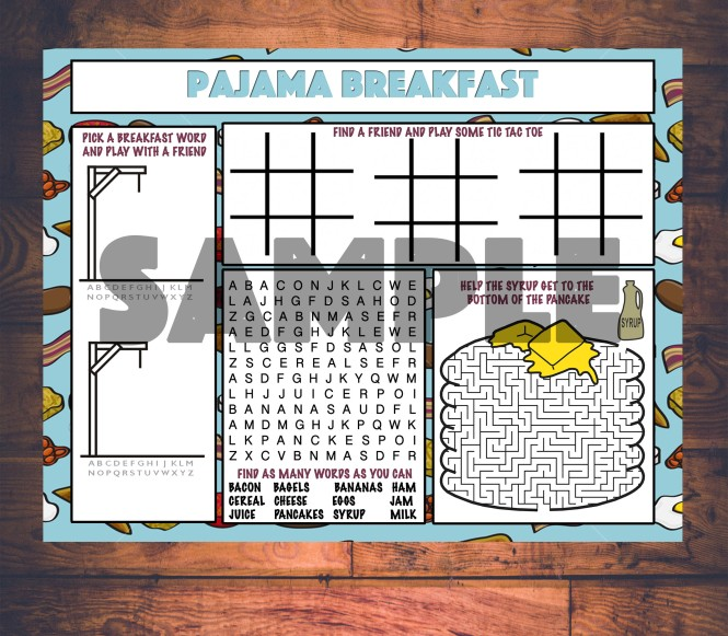 PAJAMA BREAKFAST SAMPLE