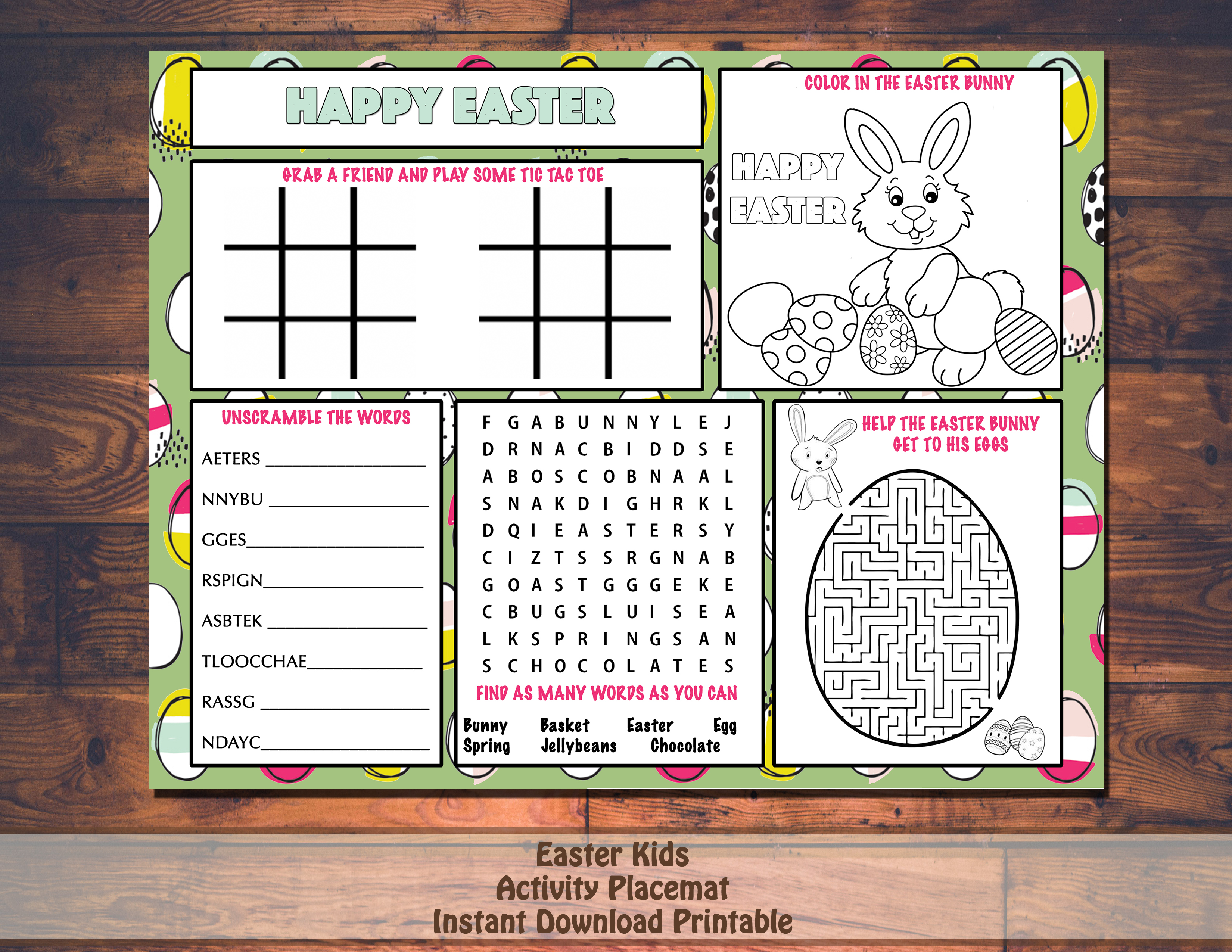 photo regarding Printable Placemats named Pover and Easter Printable Placemats Uncomplicated Function Options