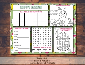 Easter Activty placemat Sale