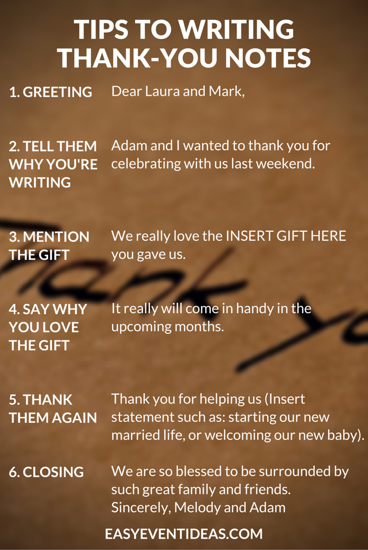 tips to sending thank you notes  u2013 easy event ideas