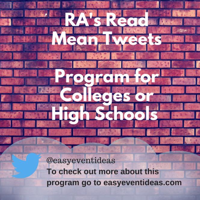 RA's Read Mean Tweets