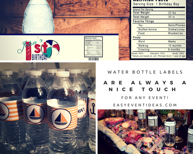 Water Bottle Labels are always a Nice Touch for any Event!