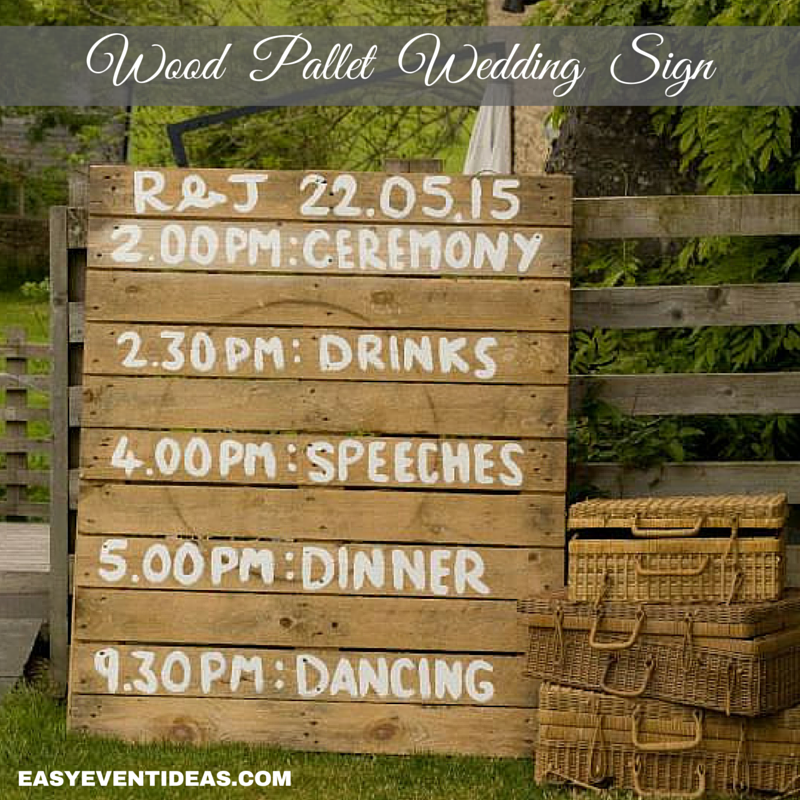 Wood Pallet Wedding Sign Easy Event Ideas