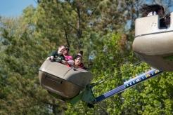 Students enjoy rides at Mason Day at the Fairfax campus. Photo by Alexis Glenn/Creative Services/George Mason University