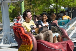 Students enjoy rides at Mason Day at the Fairfax campus. Photo by Alexis Glenn/Creative Services/George Mason University