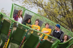 Students participate in annual Mason Day. Photo by Craig Bisacre/Creative Services/George Mason University