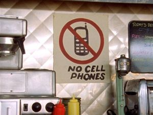 No Cell Phones Image from Gilmore Girls