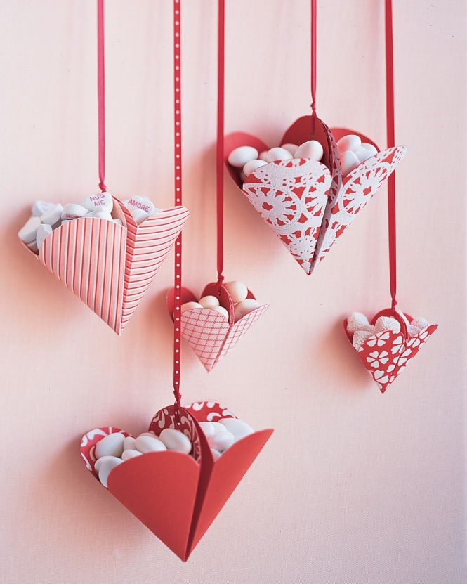 Bonbon-Filled Hearts from marthastewart.com