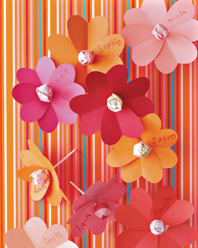Flower Petal Lollypops from marthastewart.com
