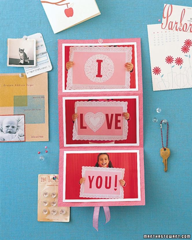 Valentines Day Sign Card from marthastewart.com